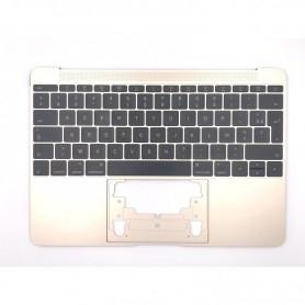 """Clavier Apple MacBook 12"""" A1534 EMC 2991 3099 Topcase Or Francais Azerty"""