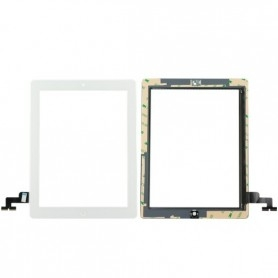 Vitre tactile Apple iPad 2 Blanc A1395 A1396 écran glass + bouton home+Stickers