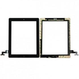 Vitre tactile Apple iPad 2 Noir A1395 A1396 écran glass + bouton home +Stickers