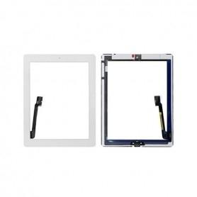 Vitre tactile Apple iPad 3/4 Blanc + bouton home