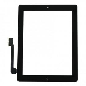 Vitre tactile Apple iPad 3/4 Noir + bouton home