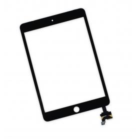 Vitre tactile Apple iPad mini 3 A1599 A1600 Noir +Sticker de fixation assemblée