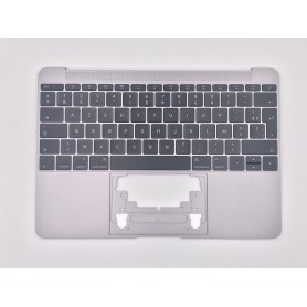 """Clavier Topcase Apple MacBook 12"""" A1534 EMC 2991 3099 Argent Français Azerty"""