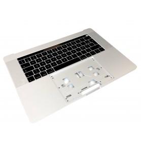 """Clavier Topcase Apple MacBook Pro 15"""" A1707 EMC 3072 3162 Argent Francais Azerty"""