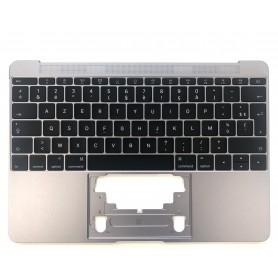"Clavier Apple MacBook 12"" Gris A1534 2015 EMC 2746 Topcase Français Azerty"