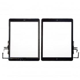 Vitre tactile Apple iPad Air 1 / iPad 5 Ecran Noir + bouton Home + stickers