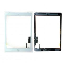 Vitre tactile Apple iPad Air 1 / iPad 5 Ecran Blanc + bouton Home + stickers