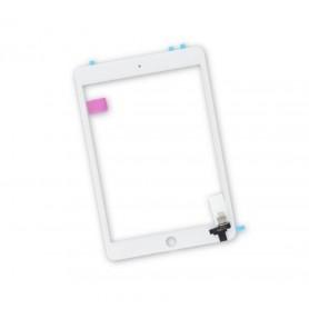 Vitre Tactile Apple iPad mini 3 A1599 A1600 Ecran Blanc + Stickers Fixation
