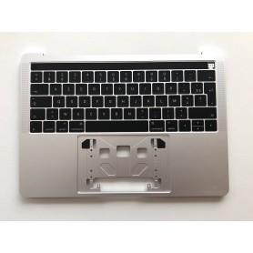 """Clavier Topcase Apple MacBook Pro 13"""" Argent A1706 EMC 3071 3163 Français Azerty"""